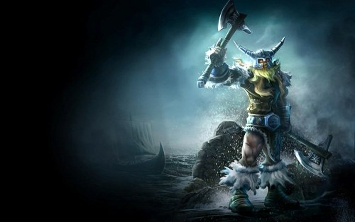 Olaf, the Berserker. Be wary, children, each of those axes is a KSing machine!