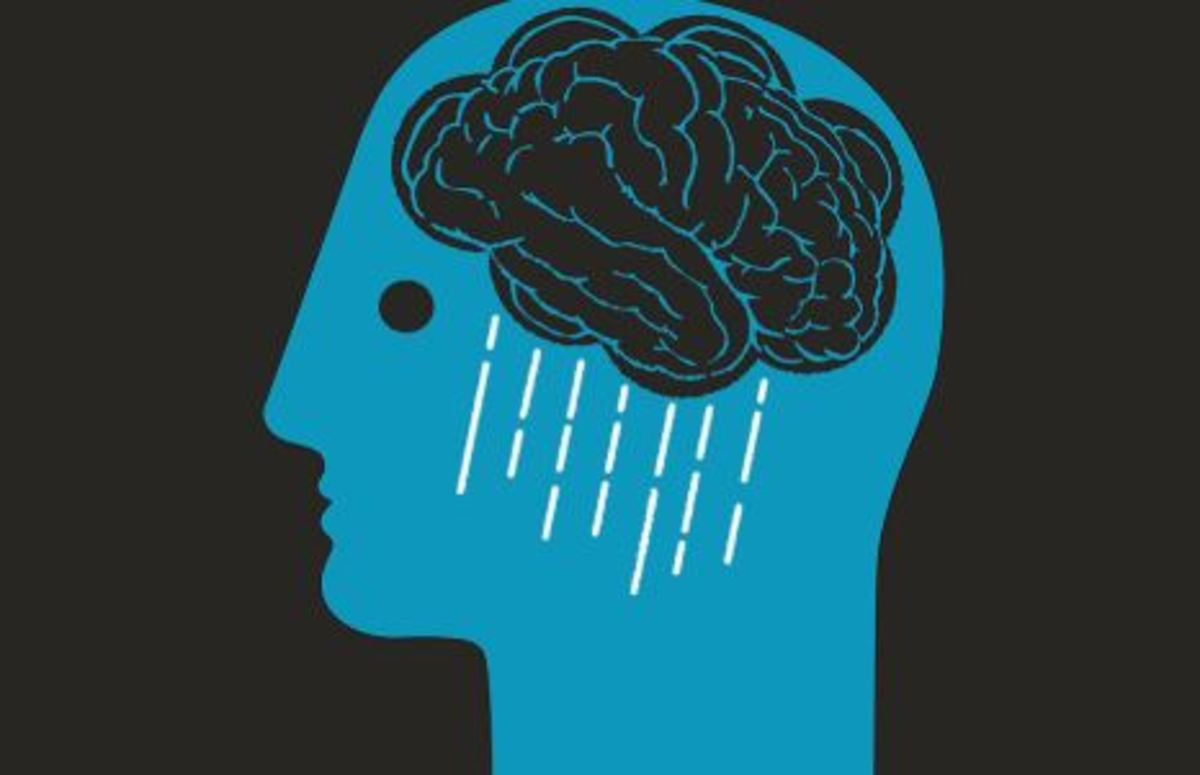 Sometimes you get so sad, your brain rains.