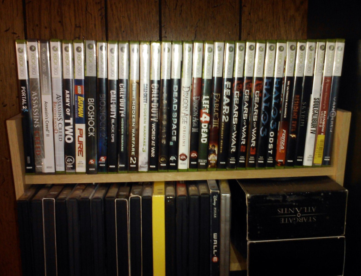 Keeping your games in their cases will keep them organized and scratch-free.