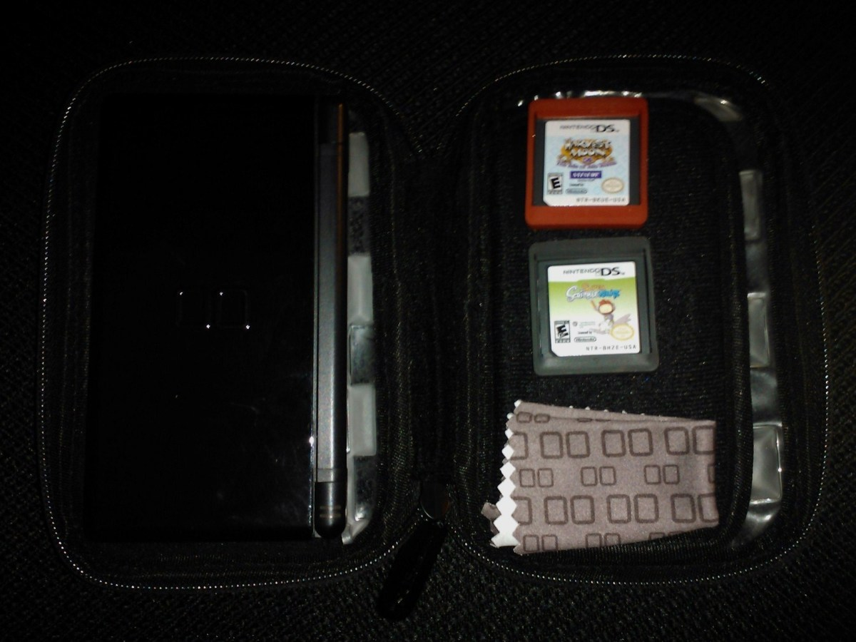Keep your portable gaming devices in protective cases in case of slippery fingers!
