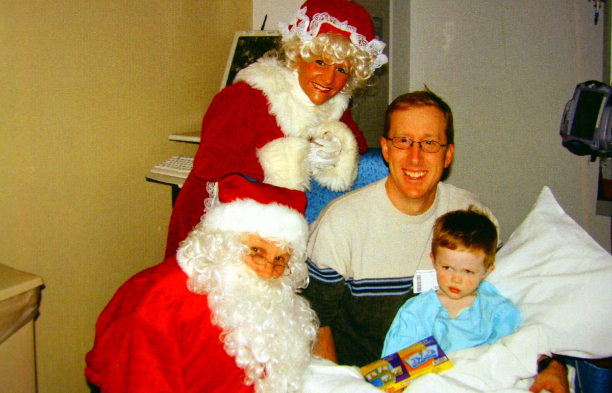 Recovering from a supraglottoplasty: Santa Claus visits the Pediatric Intensive Care Unit.