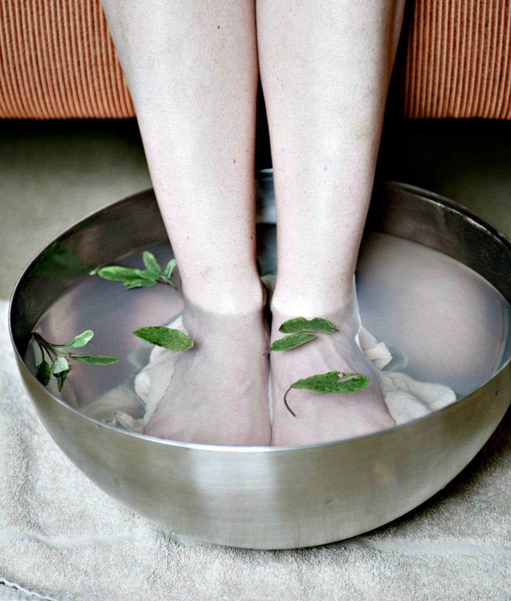 Soaking and washing feet regularly keeps them healthy and infection free.