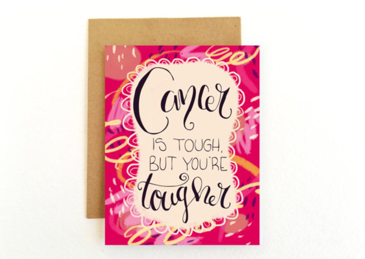"""A handmade card by Emily Cromwell. Making your own cards or finding upbeat ones like this are far better than the standard """"Get Well"""" card."""