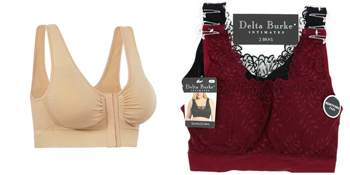 I love these two bras. I found that the Delta Burke bralettes worked well stuffed or worn flat.