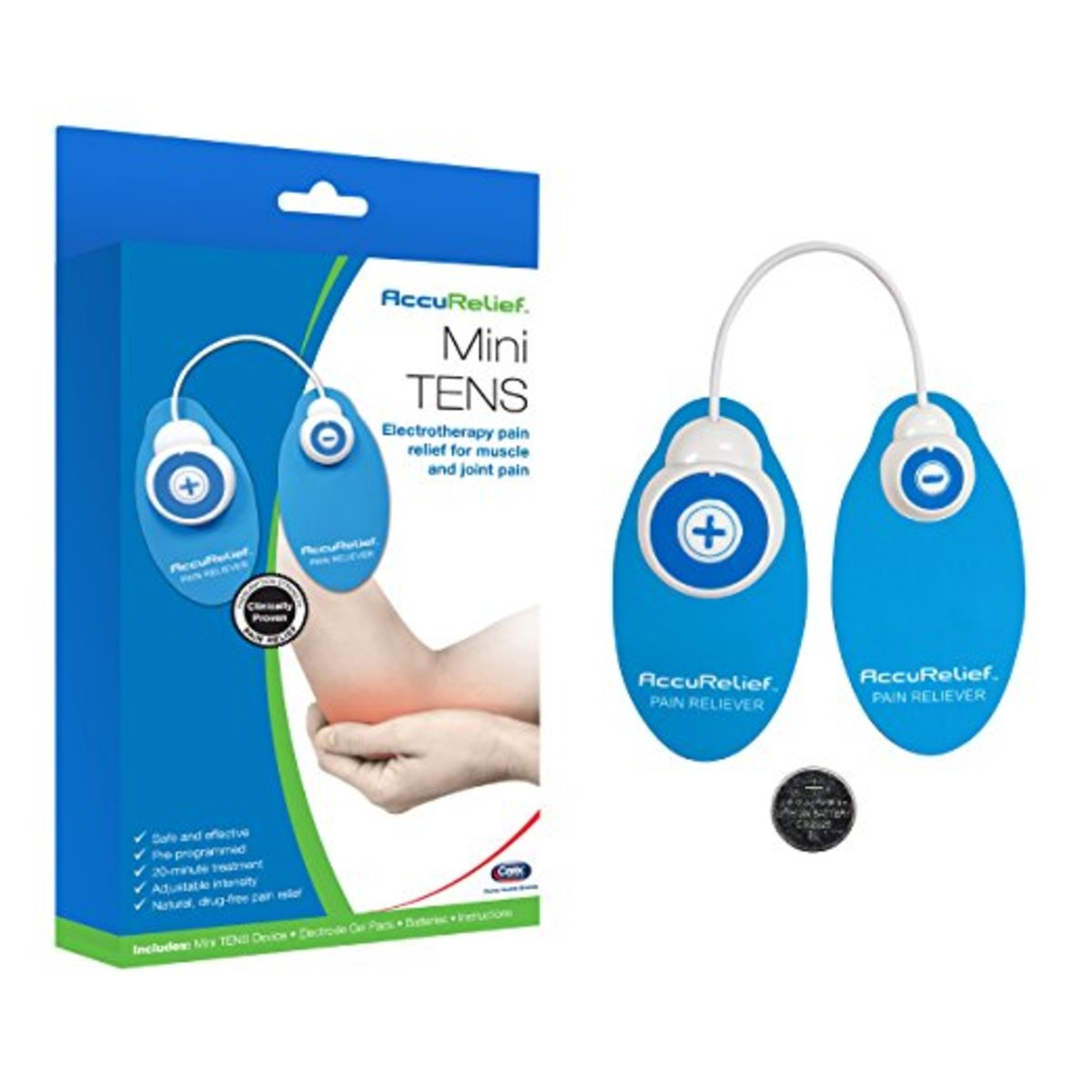 The AccuRelief Mini TENS System can help you to manage many different types of chronic or acute pain.