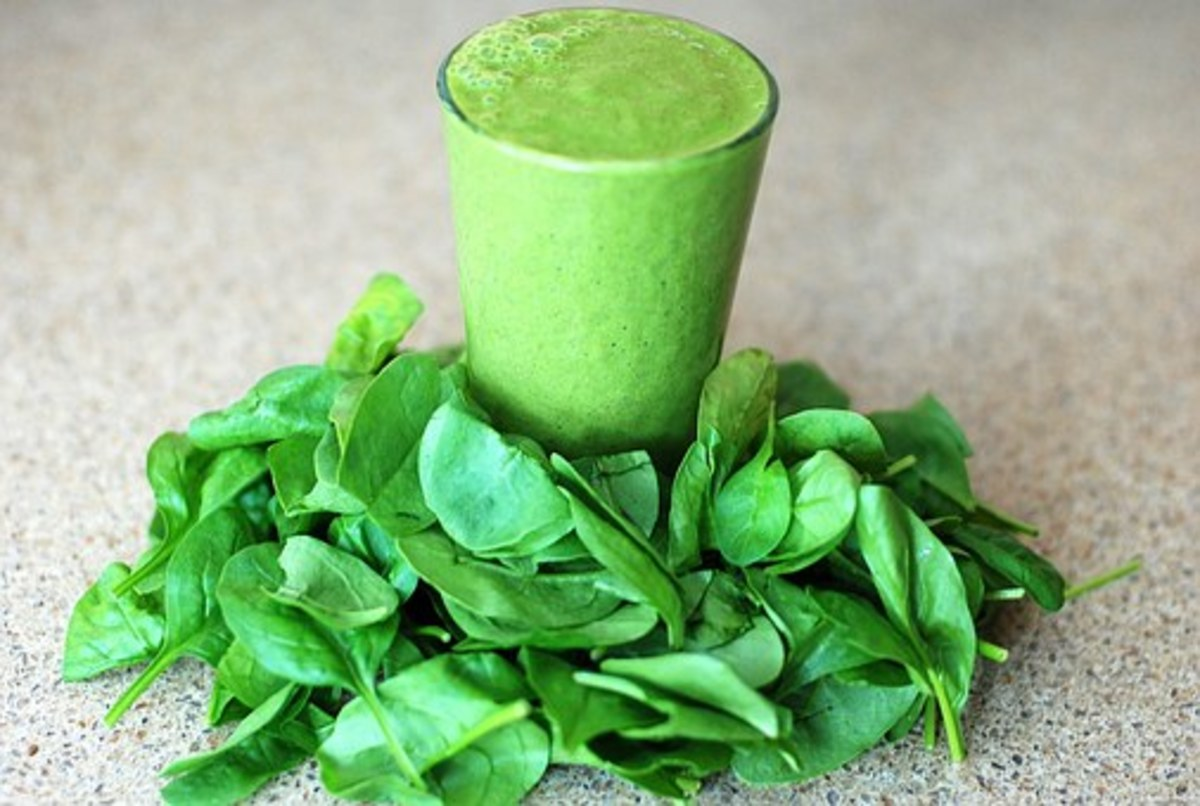 Protein shakes and smoothies are quick, easy ways to obtain protein. They can be made with any protein powder you prefer. Spinach is a great source of fiber and vitamins, which adds no flavor to smoothies.