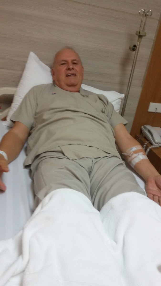 A few hours before my hernia operation