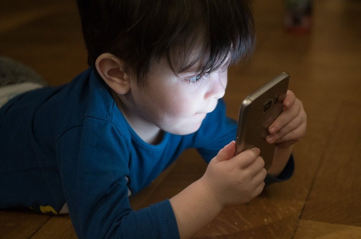 Cell phone addiction can start at a very early age.
