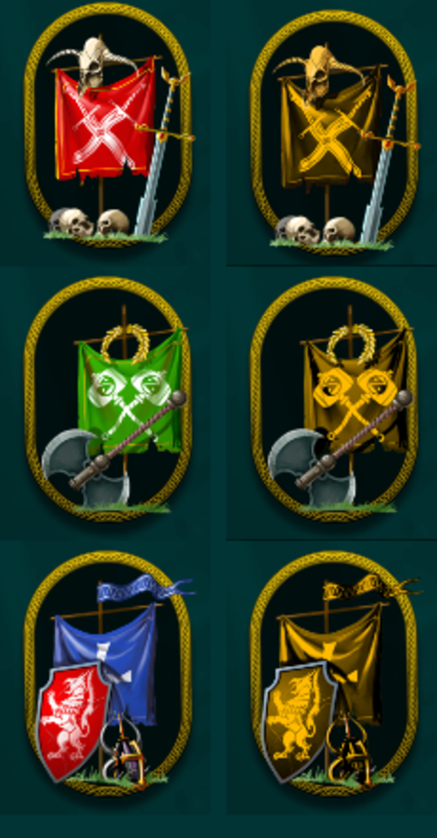 (Top To Bottom) Attack, Balanced, Defender badges. Standard on the left, Pro-pack  on the right