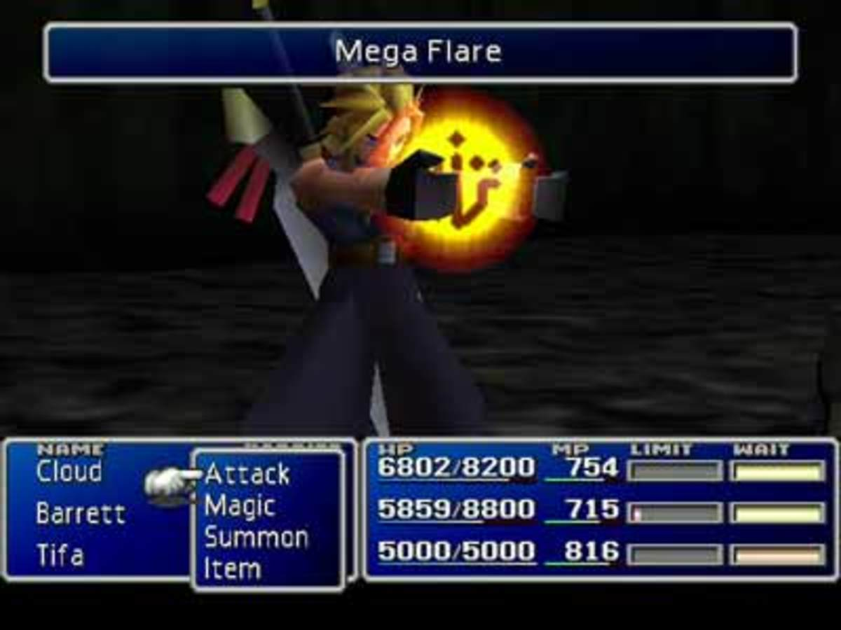 Final Fantasy VII Battle Scene