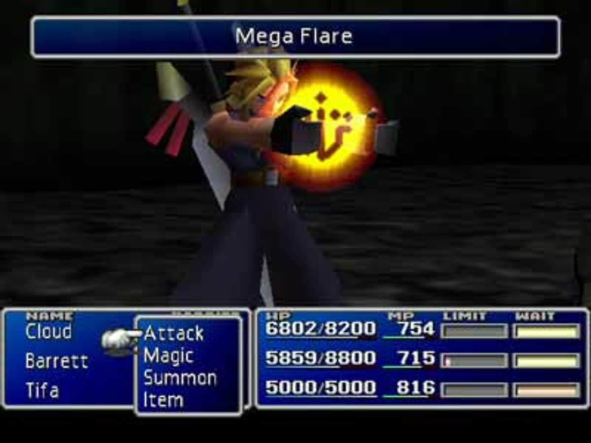 Final Fantasy VII Battle Scene