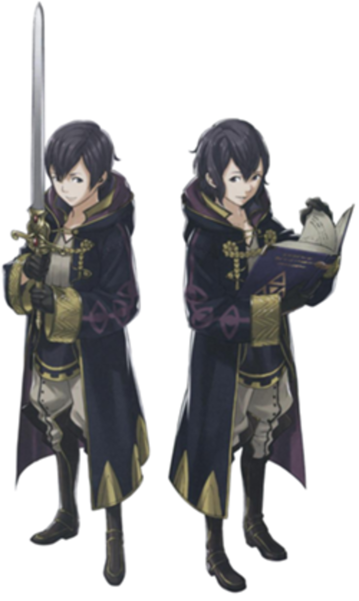 Both genders of Morgan in one picture. Only one or the other will be attainable in any individual game of Fire Emblem: Awakening.