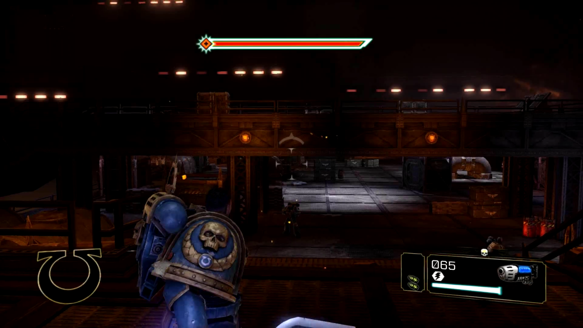 Looking back on the area prior, from where the Champion spawns.