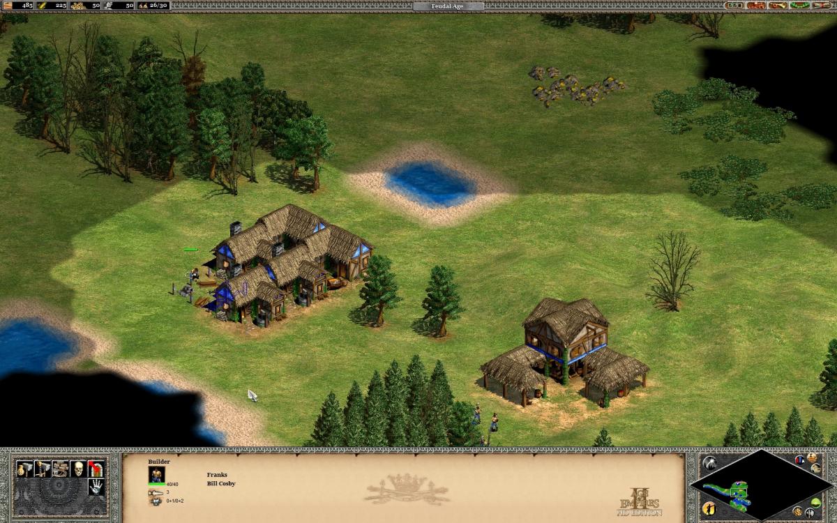 Establishing the town.