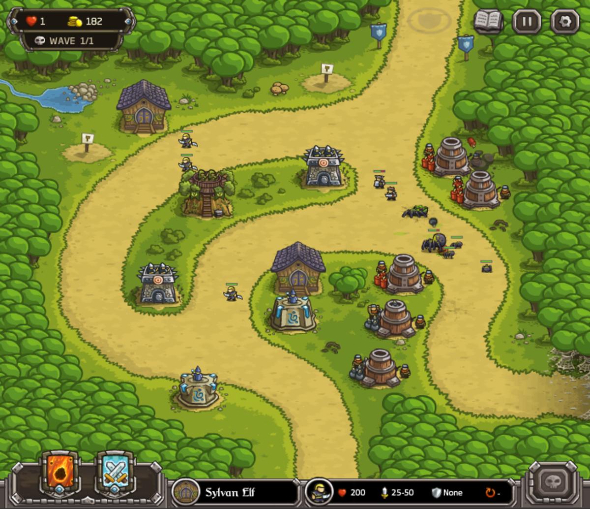 """Kingdom Rush"" screenshot"