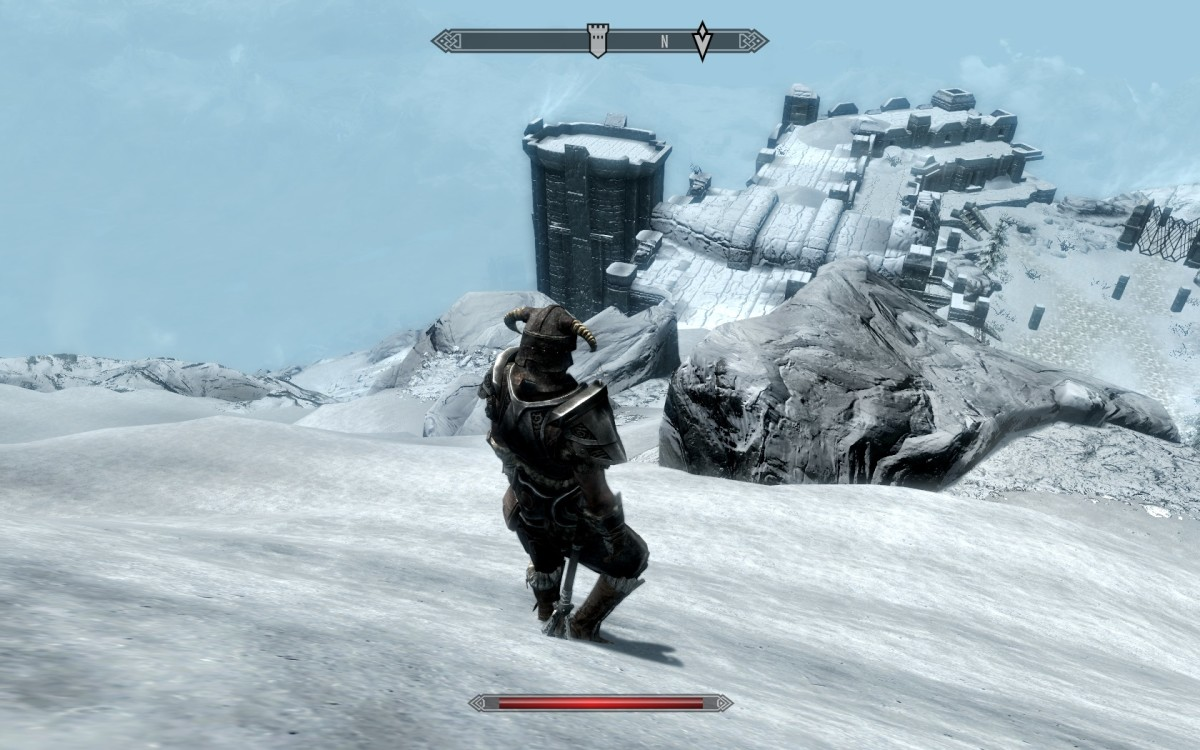 Screenshot from PC version of Elder Scrolls: Skyrim