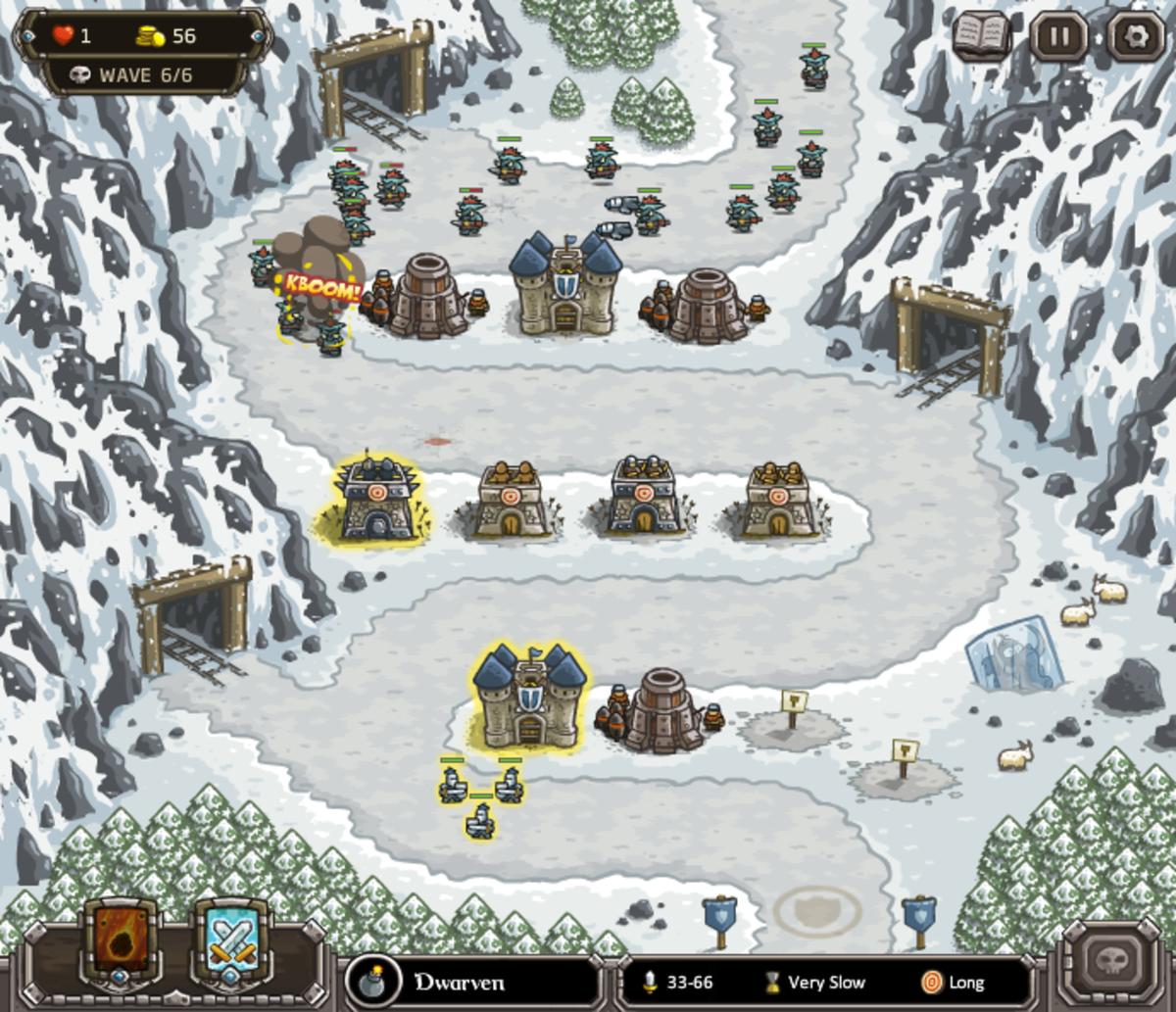kingdom-rush-walkthrough-level-7-coldstep-mines