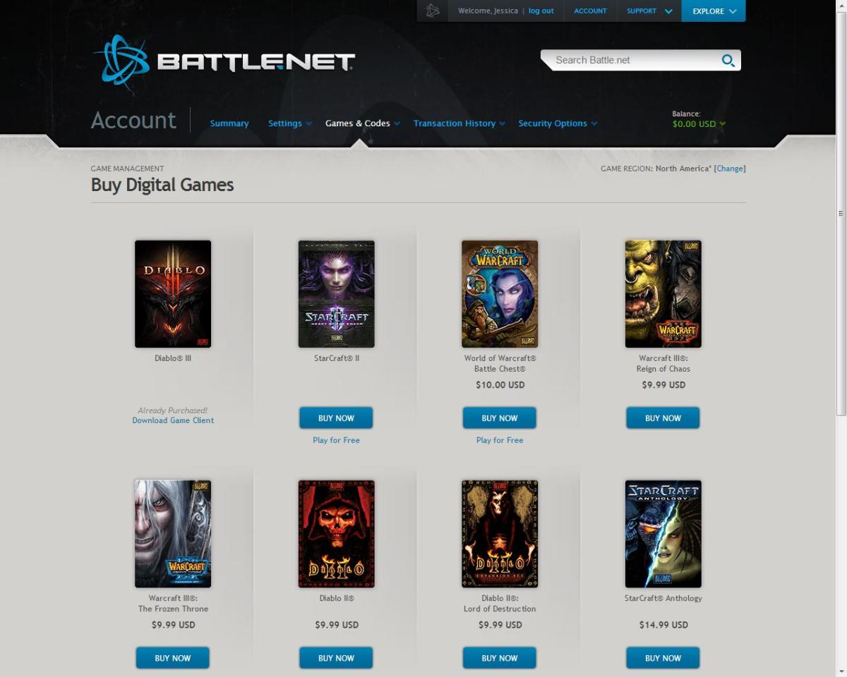 Buying World of Warcraft and other Blizzard games online is a breeze!