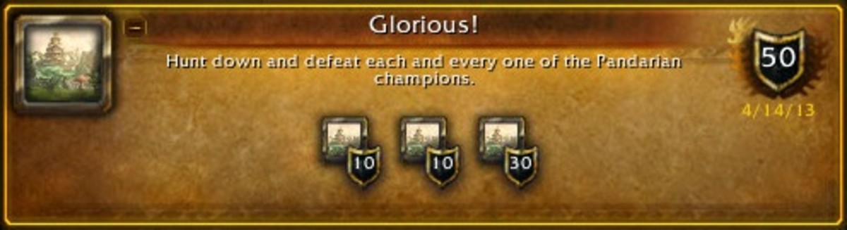 The completed achievement for killing all of the rares in Pandaria.
