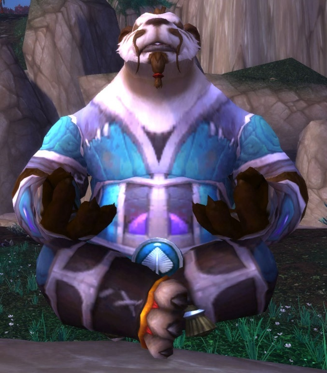The Pandaren are usually meditating before attacked.