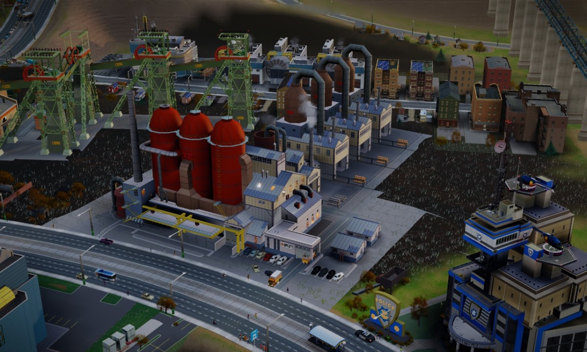 My Smelting Factory and its ground pollution.