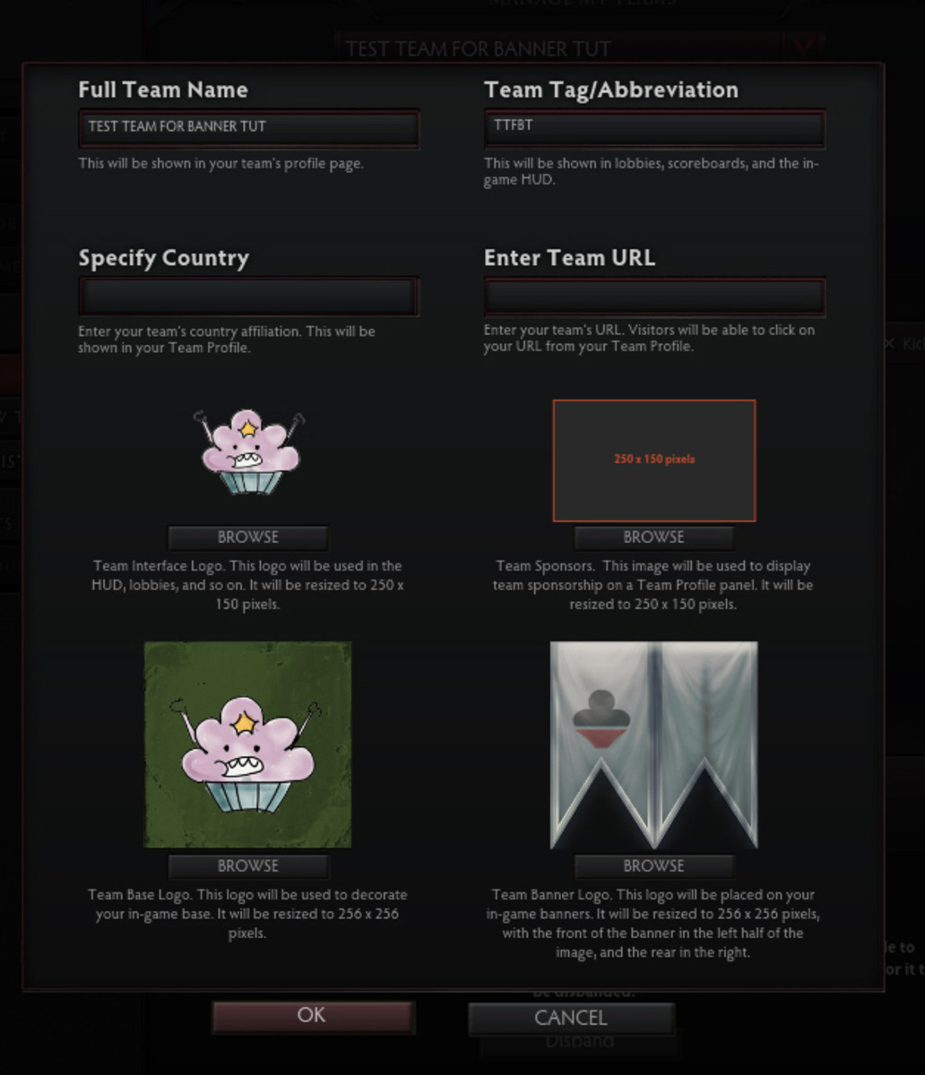 how to make your own team banner in dota 2 levelskip