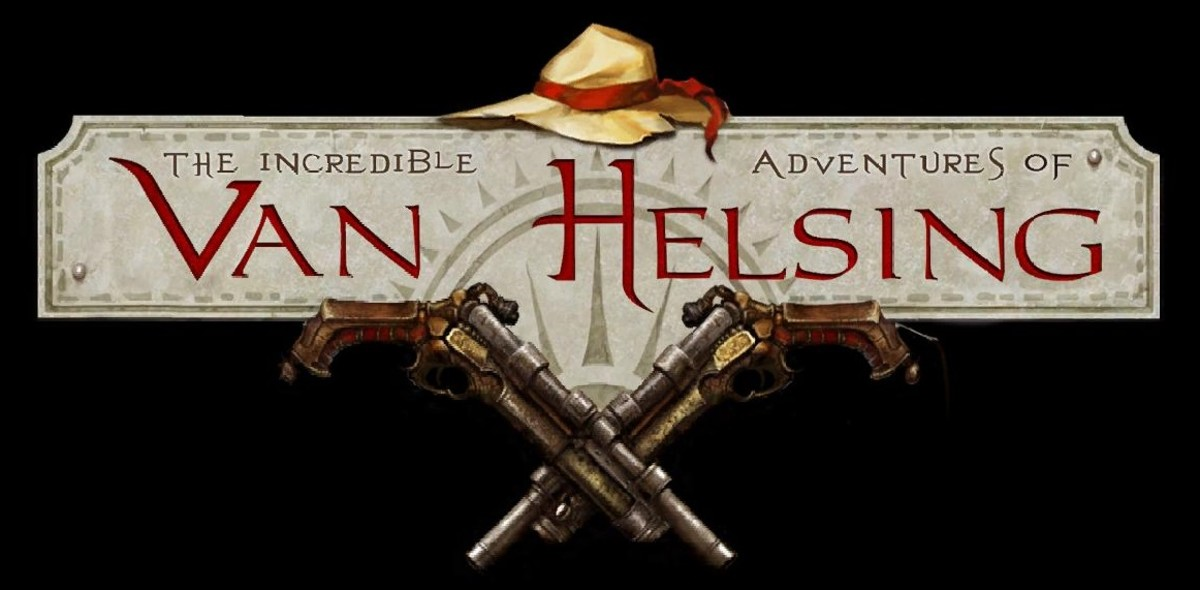 "Screenshot of the logo from ""The Incredible Adventures of Van Helsing."""