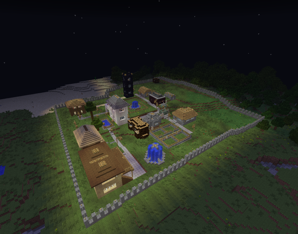 Having a fence or wall surrounding your village keeps out uninvited hostile mobs.