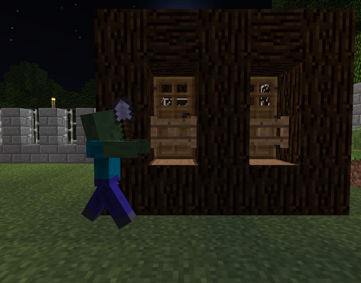 Zombies were uninterested in my villagers with fence gates in front of the doors.