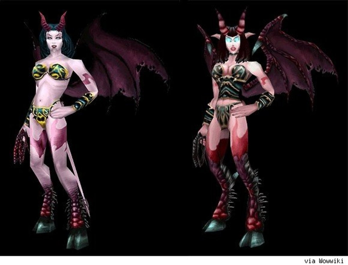 Vanilla Succubus Model (Left) Updated Version (Right)