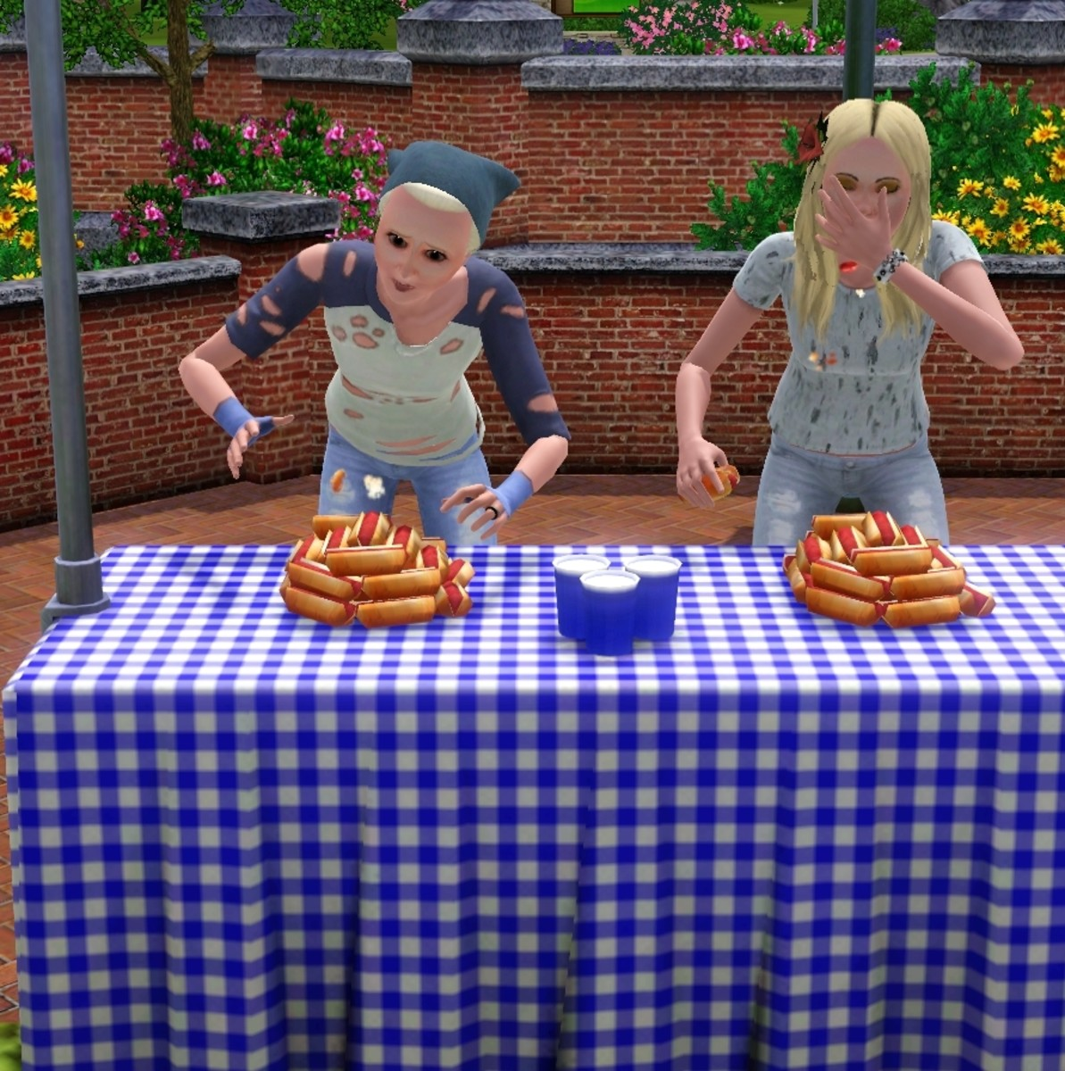 Indulge in an eating contest with Sims 3 Seasons!