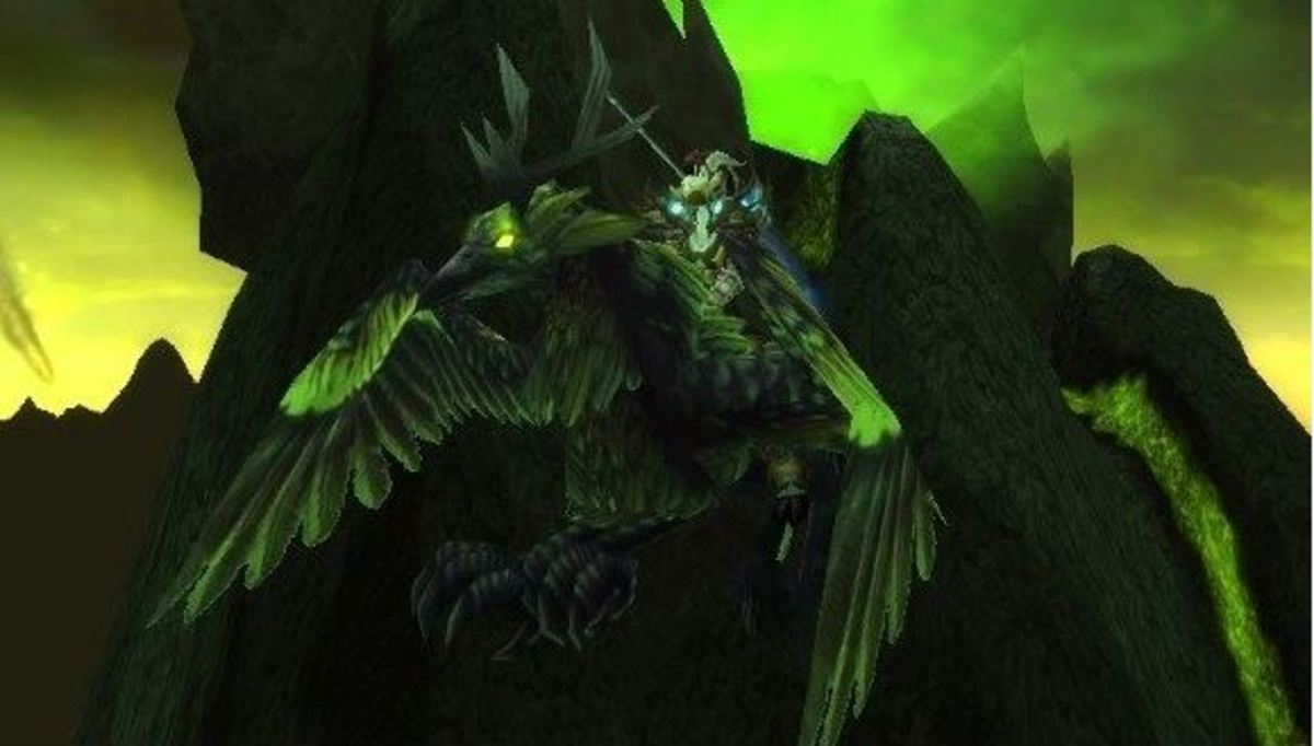 The Corrupted Hippogryph in game.