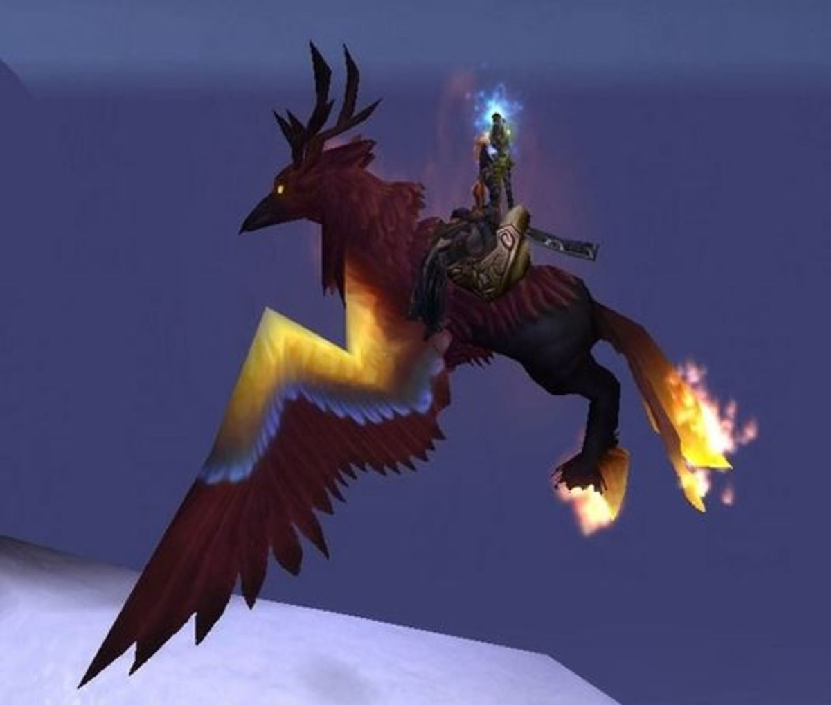 The Blazing Hippogryph in game.