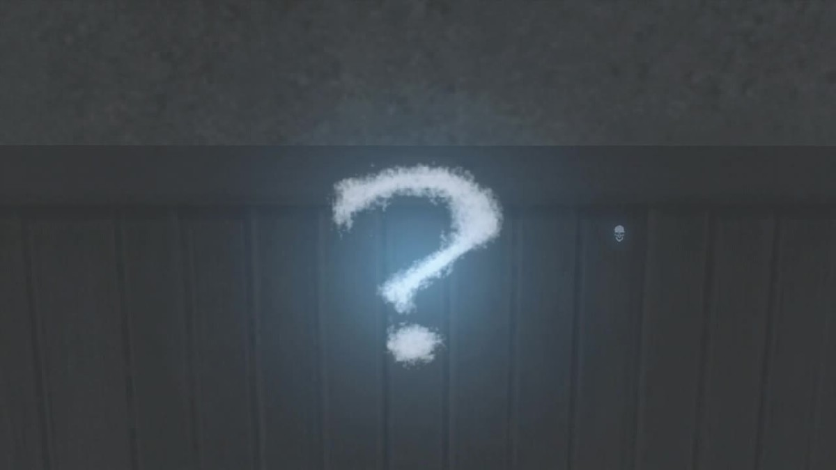 A question mark...marks the spot.
