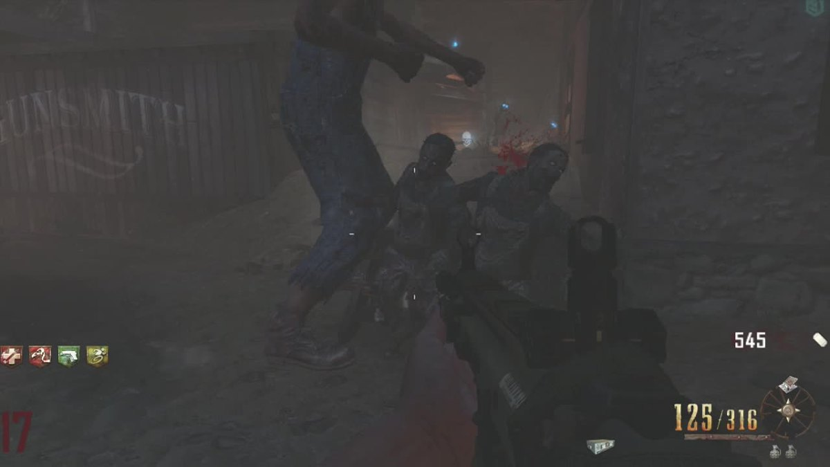 I don't think he actually touched them...I never seen zombies die of fear before.