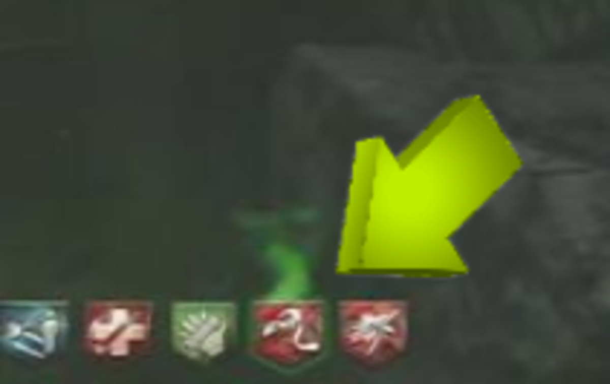 Green stink will appear on your Perk indicator if you are currently hidden.