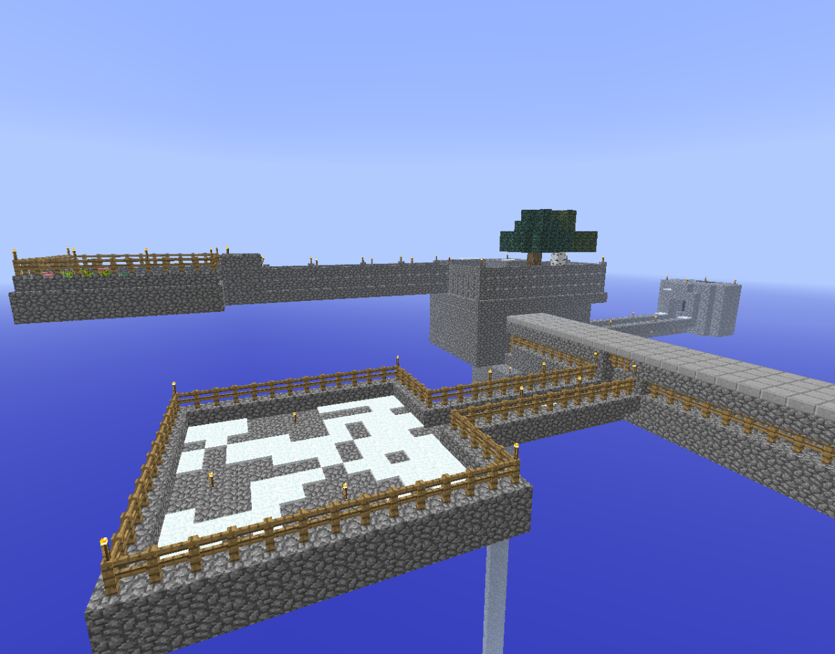 Once you start to expand your island, you'll have a floating fortress!