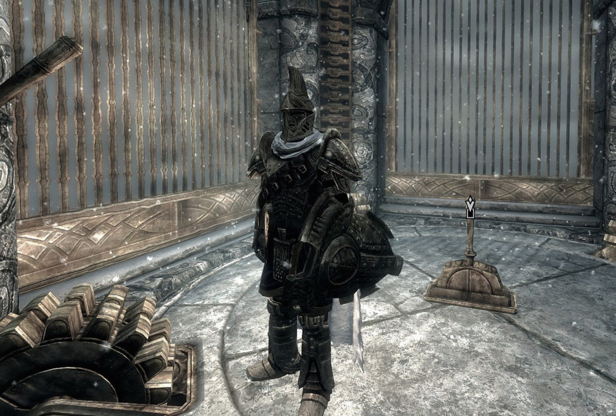 This guy has a set of full Dwemer armor.