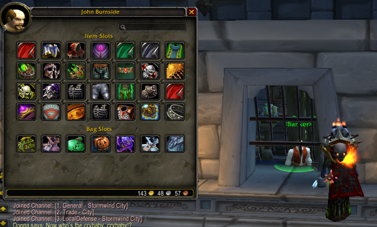 One toon's bank account in WoW
