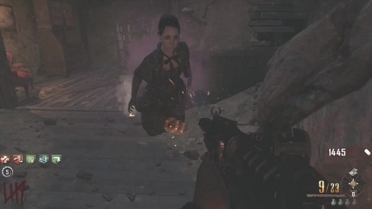 A shotgun is useful in the Mansion.