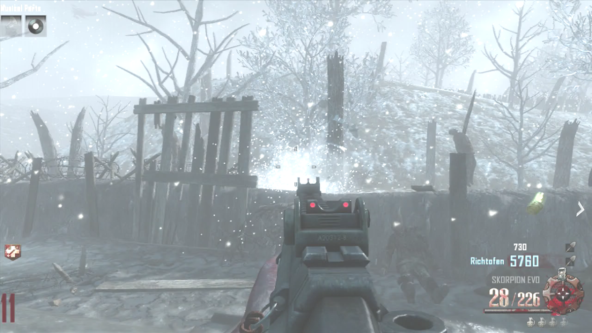 Shoot the tombstone after you have froze it with the Staff of Ice.