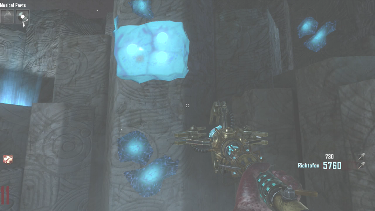 The Pillar has a blue object with dots on it.