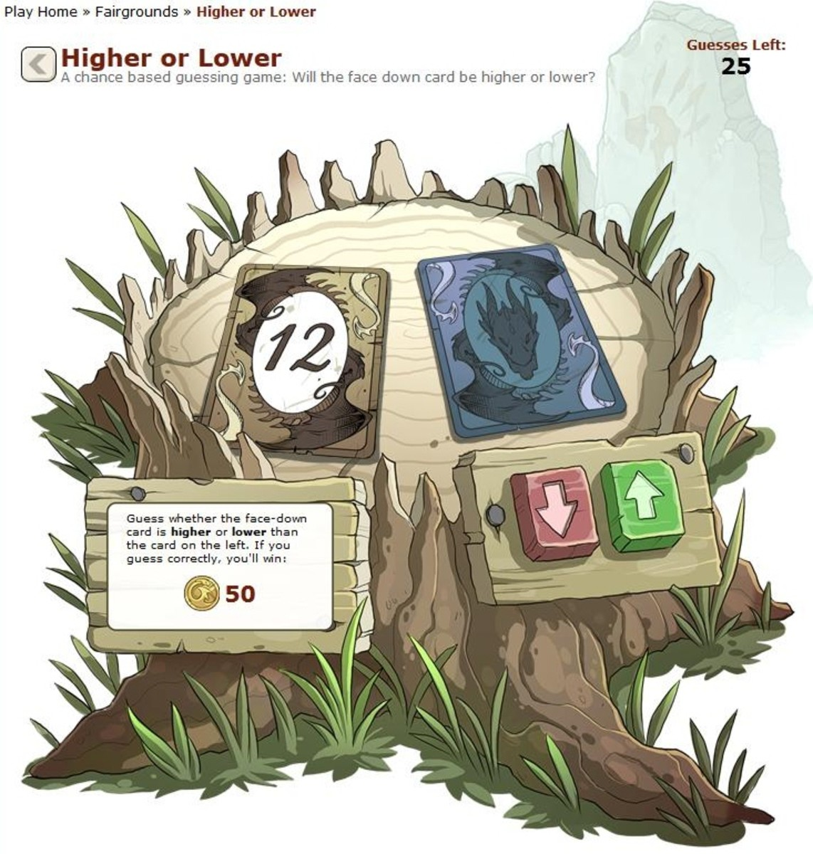 Higher or Lower isn't only easy to play - it's addictive, especially when you win!