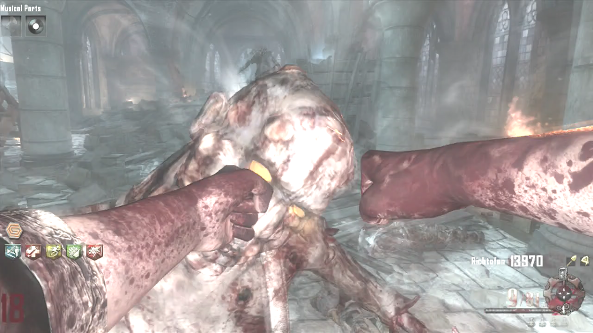 Striking their head inflicts more damage with Thunder Fists, unlike all other melee attacks.