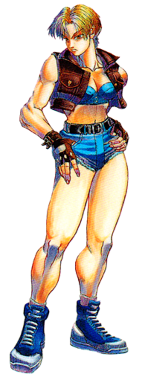 """Lucia Morgan from """"Final Fight 3."""""""