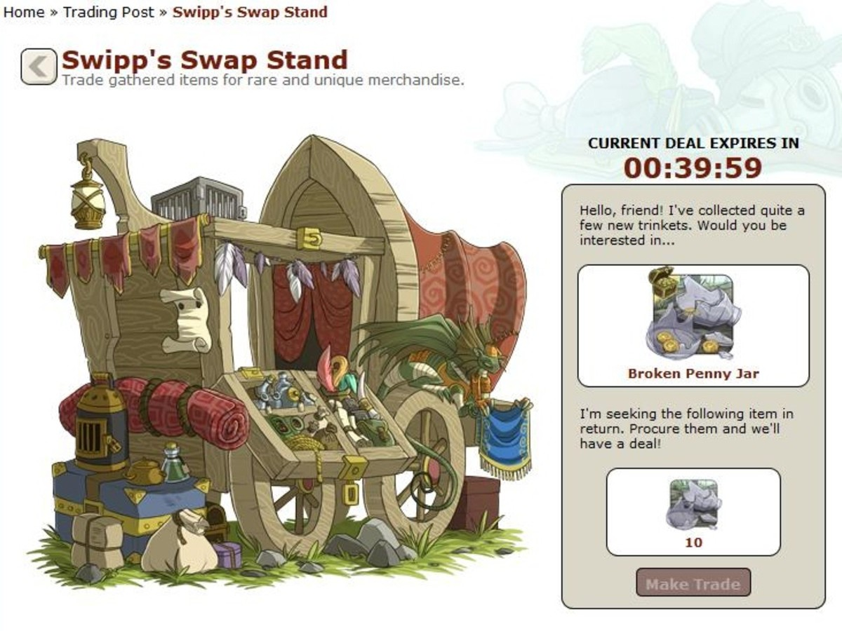 Swipp always has rare items for you ... if you have the materials he needs.