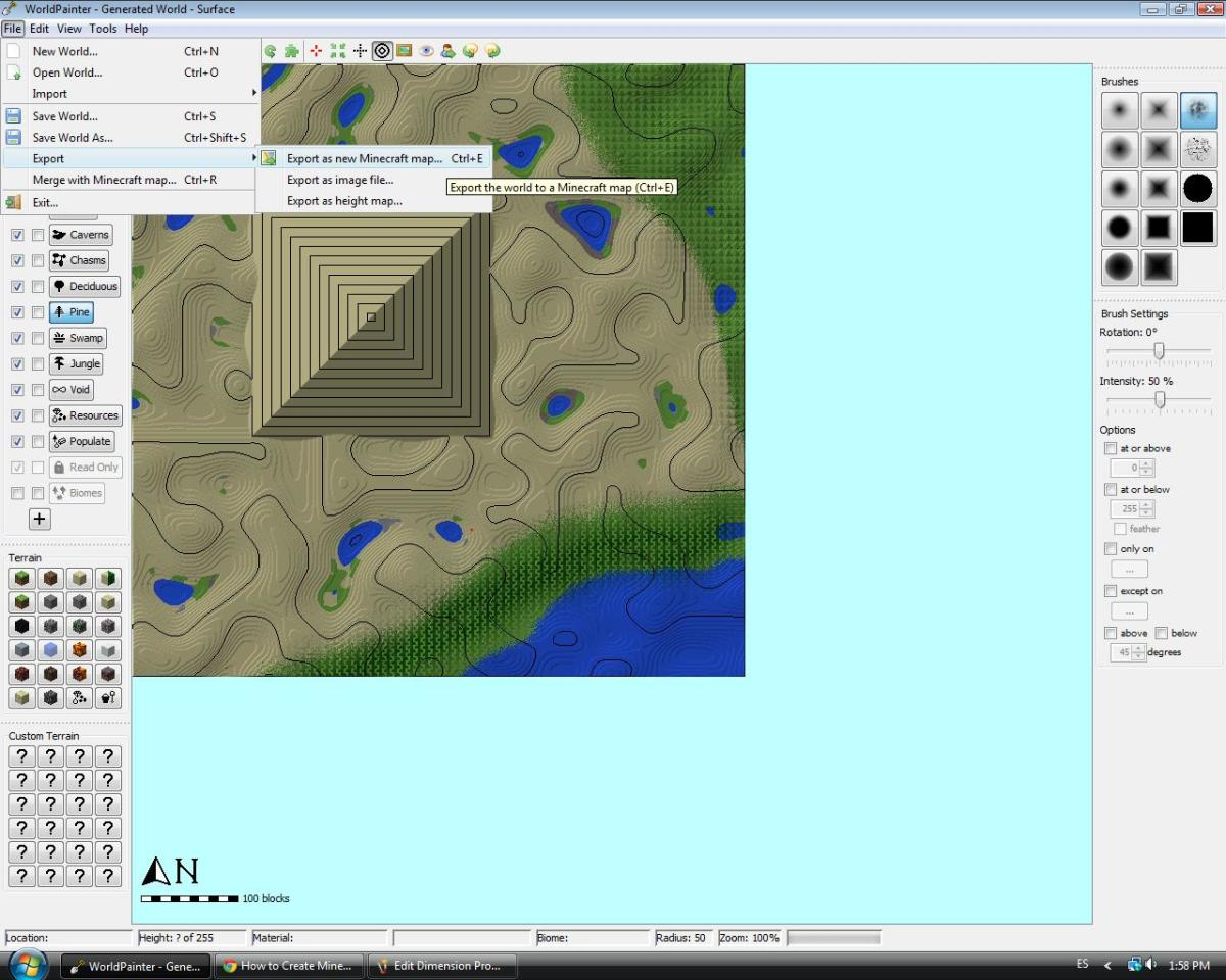 Exporting your WorldPainter file is the only way to download it as a Minecraft map.
