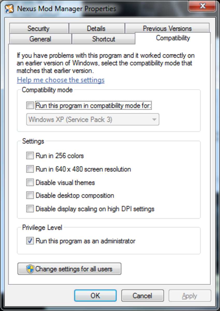 Configure Nexus Mod Manager to run as the Administrator.