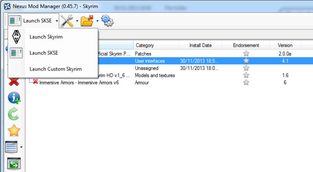 How to launch Skyrim using the Skyrim Script Extender.