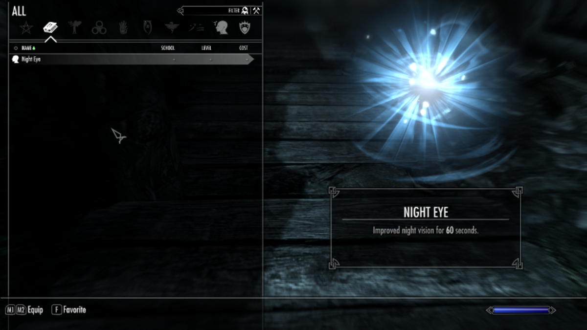 The new Sky UI mod for Skyrim showing a redesigned UI.